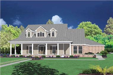 4-Bedroom, 4086 Sq Ft Country Home Plan - 139-1093 - Main Exterior
