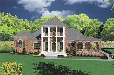 4-Bedroom, 3731 Sq Ft European Home Plan - 139-1095 - Main Exterior