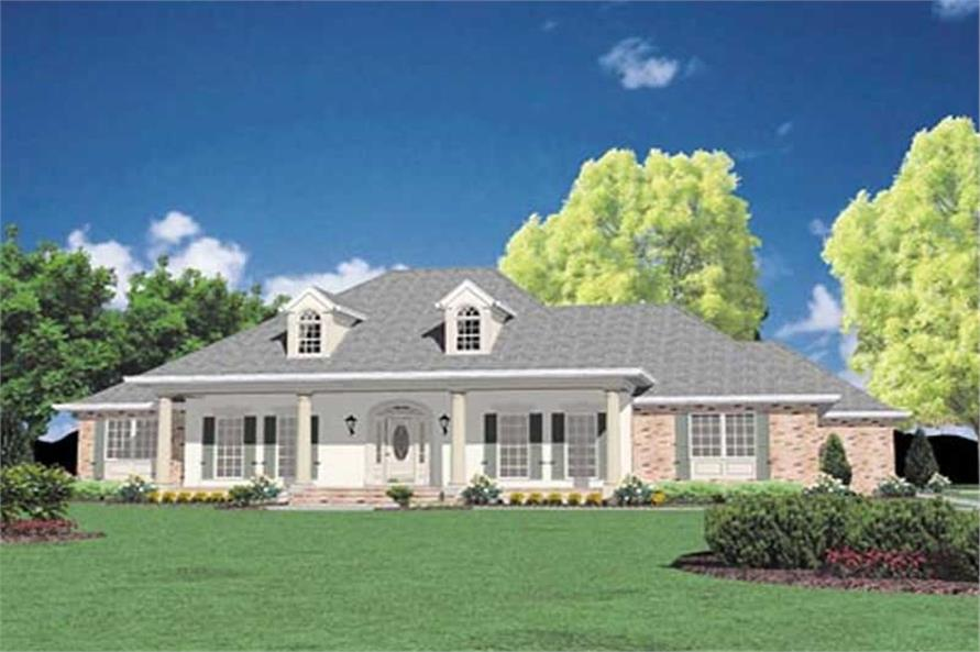 3-Bedroom, 2981 Sq Ft European House Plan - 139-1096 - Front Exterior