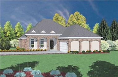 4-Bedroom, 2016 Sq Ft Contemporary Home Plan - 139-1097 - Main Exterior