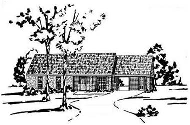 3-Bedroom, 1204 Sq Ft Ranch Home Plan - 139-1100 - Main Exterior