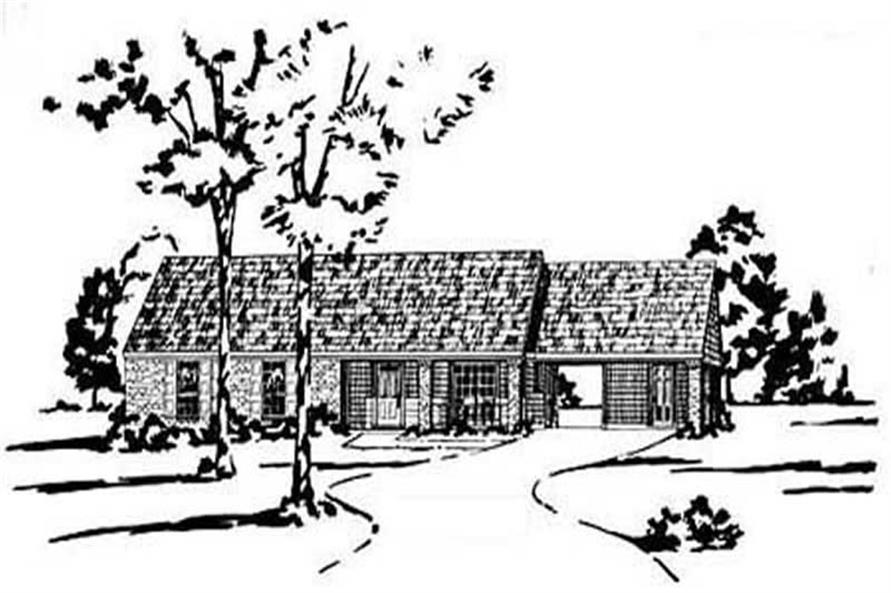 Main image for house plan # 8024
