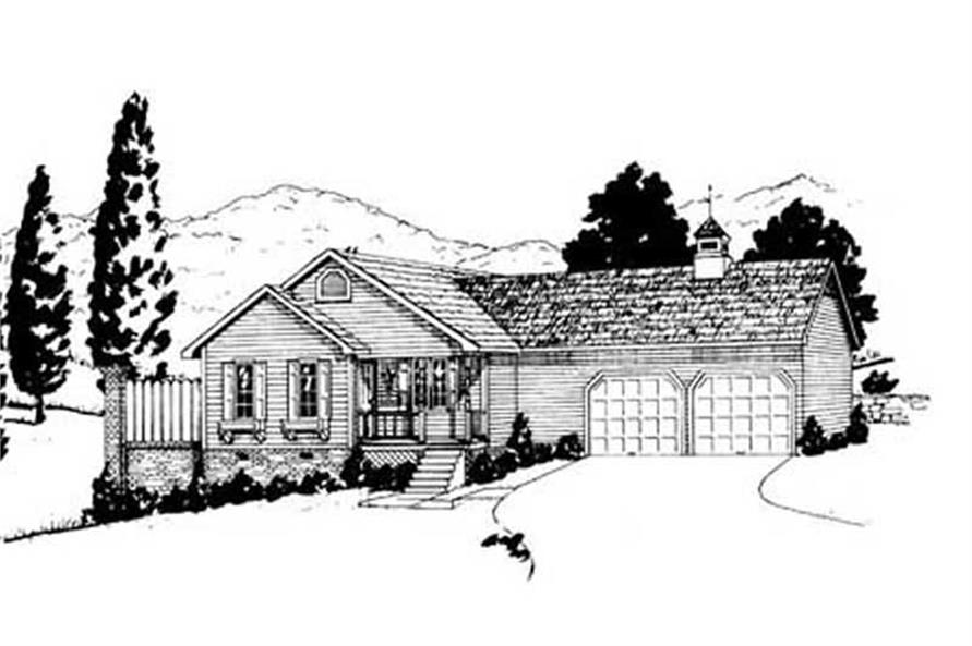 3-Bedroom, 1264 Sq Ft Ranch Home Plan - 139-1101 - Main Exterior