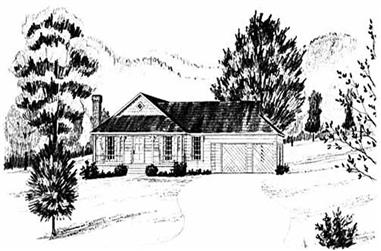 3-Bedroom, 1159 Sq Ft Ranch Home Plan - 139-1102 - Main Exterior