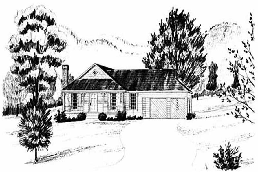 Main image for house plan # 8020