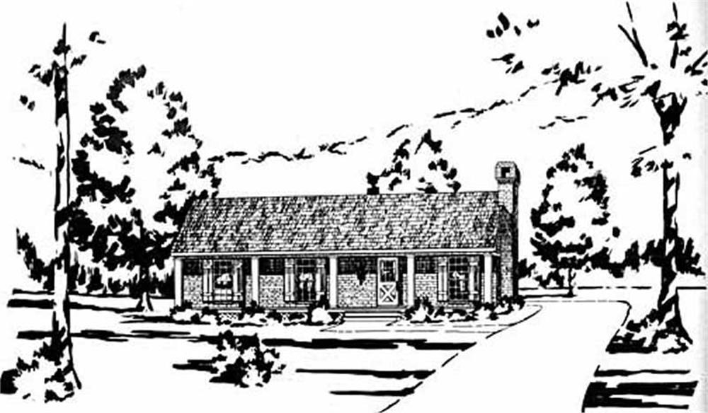Main image for house plan # 8017