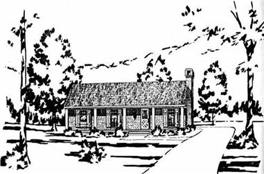 3-Bedroom, 1148 Sq Ft Small House Plans - 139-1103 - Main Exterior