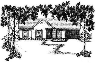 3-Bedroom, 1052 Sq Ft Small House Plans - 139-1104 - Main Exterior