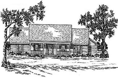 3-Bedroom, 2010 Sq Ft Country Home Plan - 139-1105 - Main Exterior