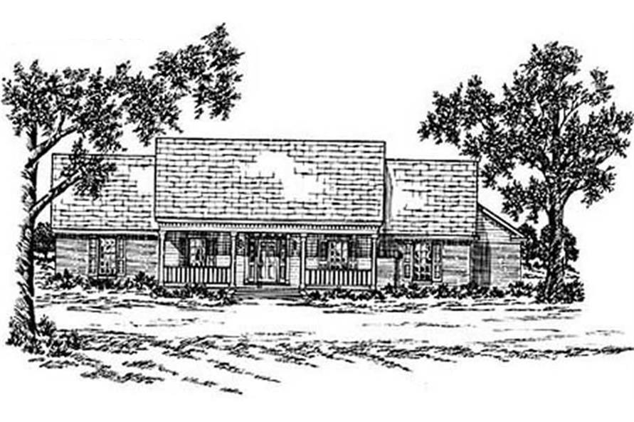 Main image for house plan # 8008