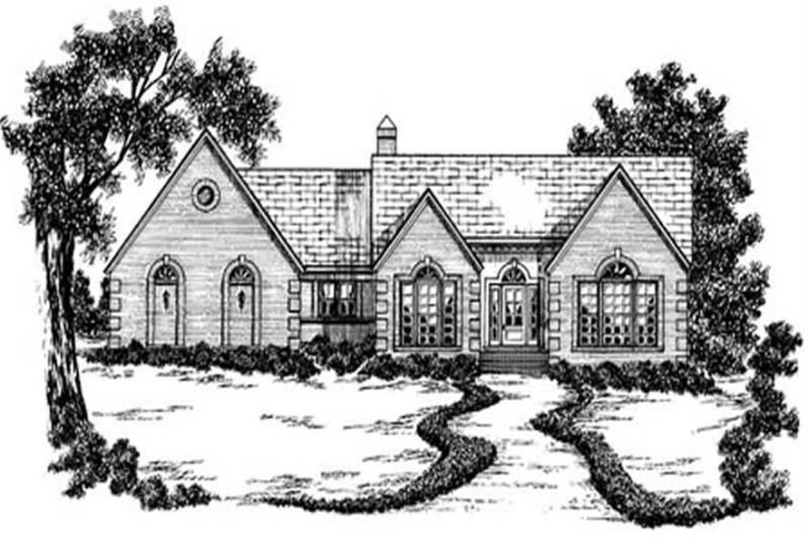 3-Bedroom, 2014 Sq Ft Ranch Home Plan - 139-1106 - Main Exterior