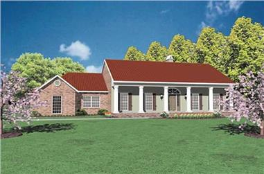 3-Bedroom, 2073 Sq Ft Colonial Home Plan - 139-1107 - Main Exterior