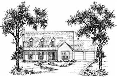 3-Bedroom, 2204 Sq Ft Country House Plan - 139-1110 - Front Exterior
