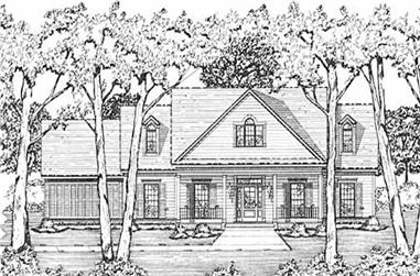 3-Bedroom, 2127 Sq Ft Country House Plan - 139-1112 - Front Exterior