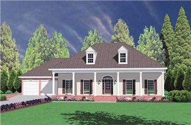 4-Bedroom, 2157 Sq Ft Colonial House Plan - 139-1113 - Front Exterior