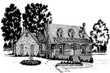 4-Bedroom, 2254 Sq Ft Country House Plan - 139-1114 - Front Exterior