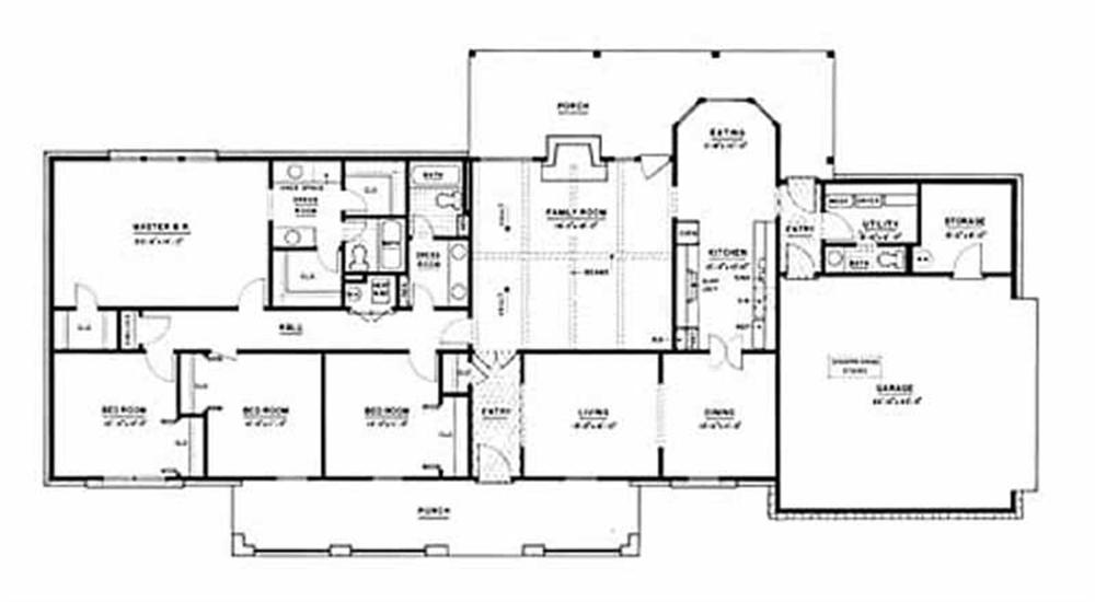 The Plan Collection Large Images For House Plan 139 1115