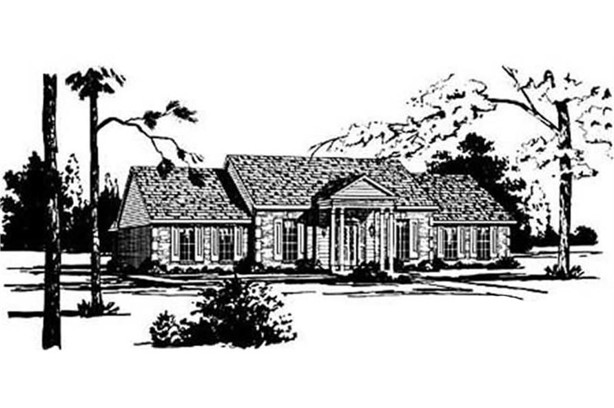 4-Bedroom, 2231 Sq Ft Ranch House Plan - 139-1116 - Front Exterior