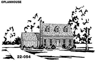 4-Bedroom, 2275 Sq Ft Country House Plan - 139-1117 - Front Exterior