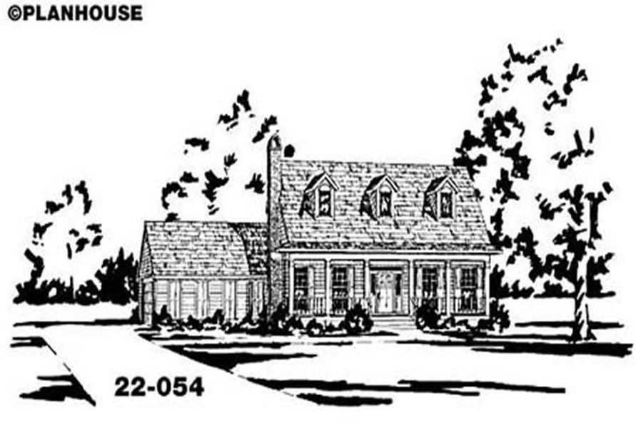 Country home (ThePlanCollection: Plan #139-1117)
