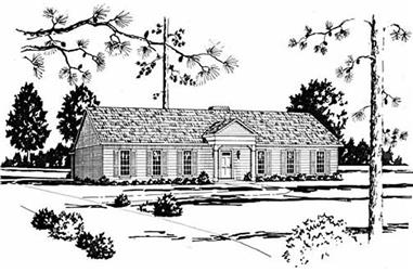4-Bedroom, 2295 Sq Ft Ranch House Plan - 139-1118 - Front Exterior