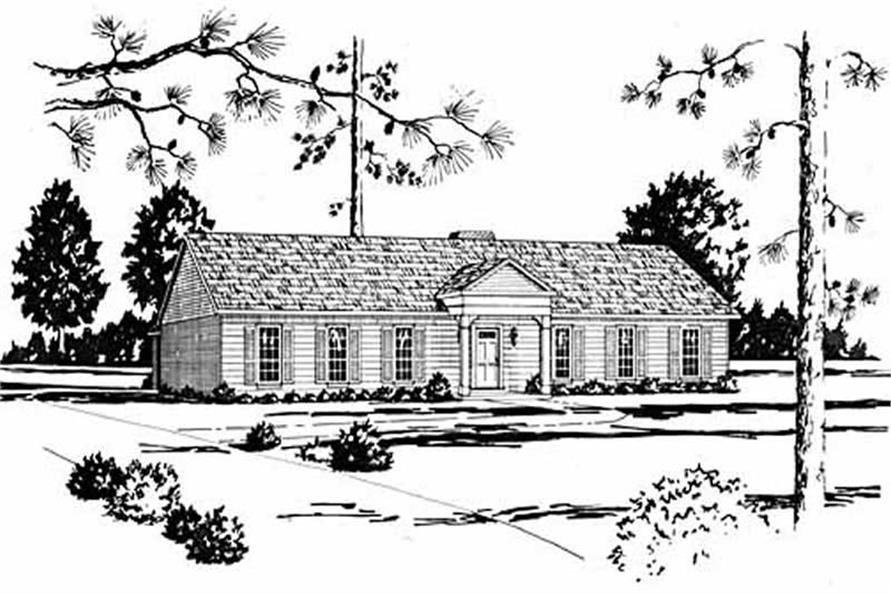 Main image for house plan # 7979
