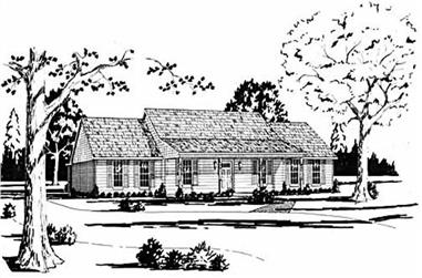 4-Bedroom, 2231 Sq Ft Ranch House Plan - 139-1119 - Front Exterior
