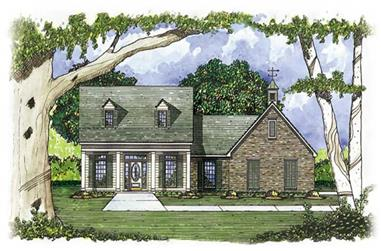 3-Bedroom, 1653 Sq Ft House Plan - 139-1120 - Front Exterior