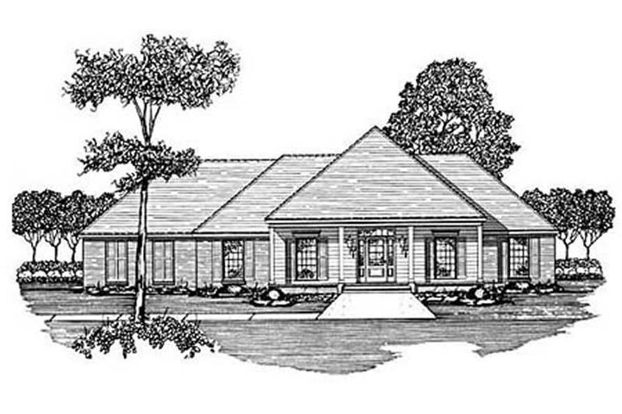 4-Bedroom, 2057 Sq Ft Country Home Plan - 139-1121 - Main Exterior
