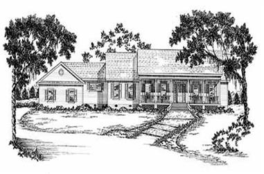 3-Bedroom, 2629 Sq Ft Country House Plan - 139-1123 - Front Exterior