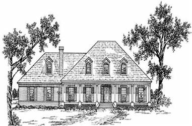4-Bedroom, 2689 Sq Ft Southern House Plan - 139-1124 - Front Exterior