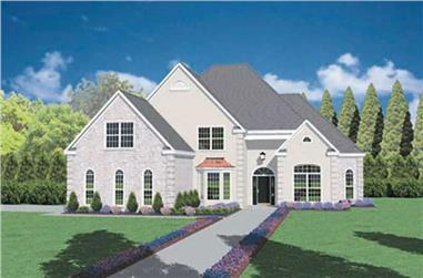 3-Bedroom, 3345 Sq Ft European Home Plan - 139-1125 - Main Exterior