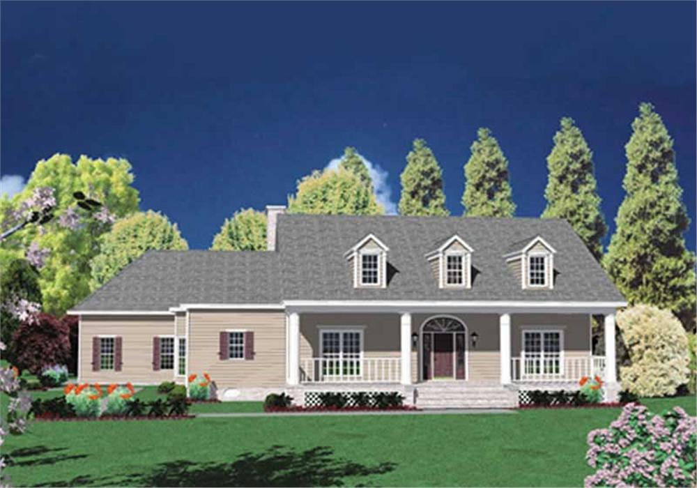 Country home (ThePlanCollection: Plan #139-1126)