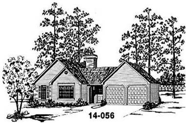 3-Bedroom, 1468 Sq Ft Country House Plan - 139-1128 - Front Exterior