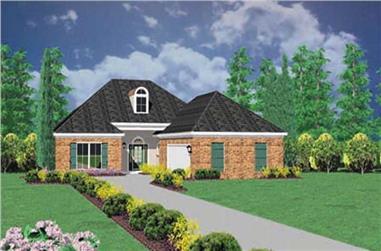 3-Bedroom, 2096 Sq Ft Ranch Home Plan - 139-1141 - Main Exterior