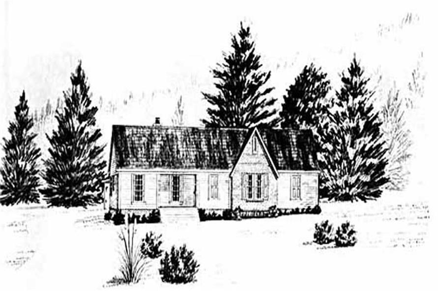 Main image for house plan # 8050