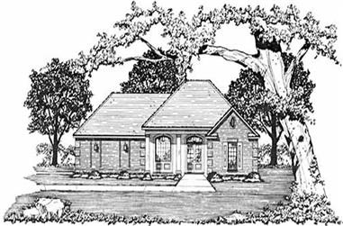 3-Bedroom, 1281 Sq Ft French Home Plan - 139-1147 - Main Exterior
