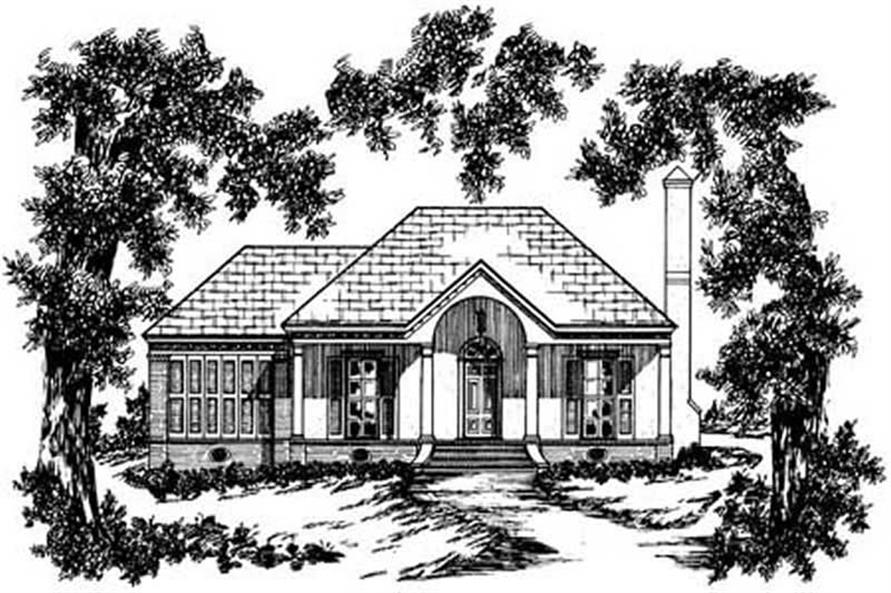 3-Bedroom, 1157 Sq Ft Country Home Plan - 139-1148 - Main Exterior