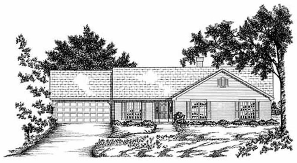 Ranch home (ThePlanCollection: Plan #139-1149)
