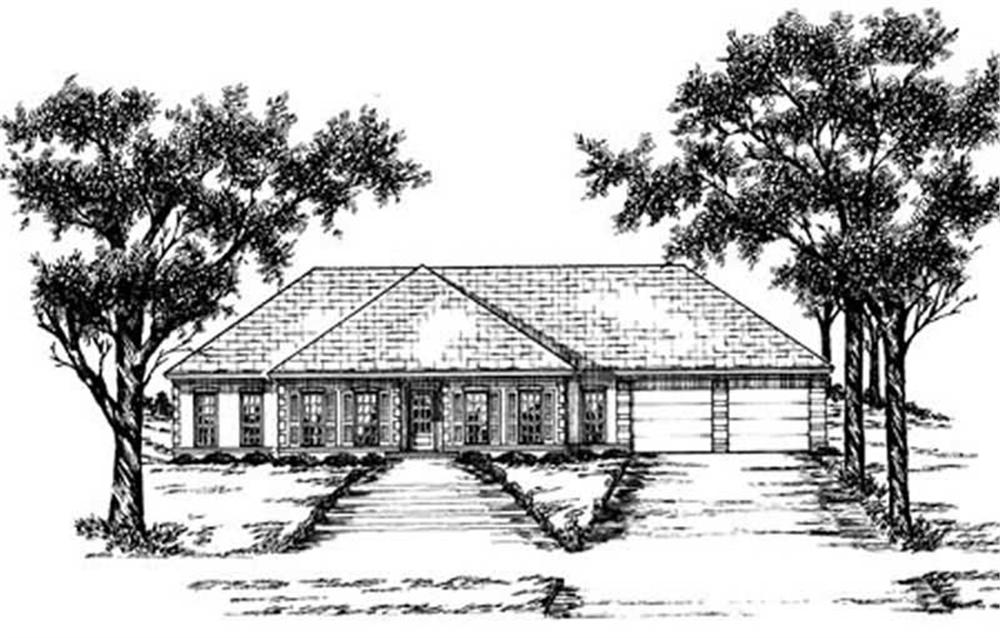 Ranch home (ThePlanCollection: Plan #139-1150)