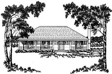 3-Bedroom, 1499 Sq Ft Country House Plan - 139-1151 - Front Exterior