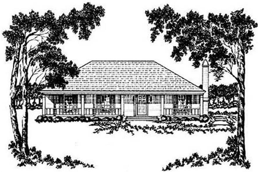 Main image for house plan # 8055
