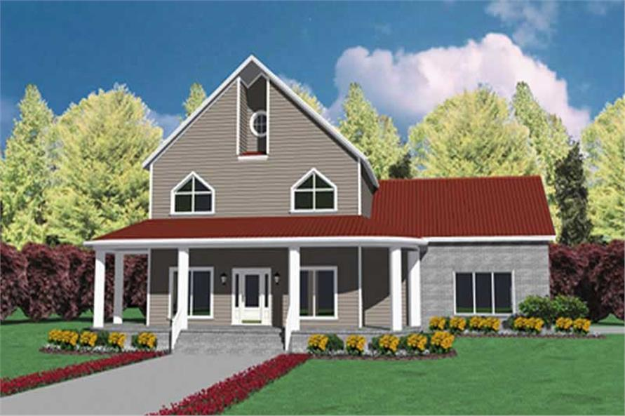 4-Bedroom, 2586 Sq Ft Country House Plan - 139-1152 - Front Exterior