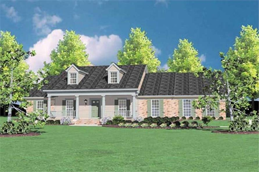 4-Bedroom, 2423 Sq Ft Country House Plan - 139-1153 - Front Exterior