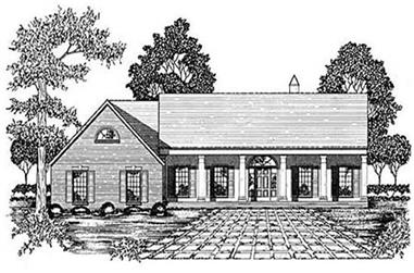 3-Bedroom, 2332 Sq Ft Colonial House Plan - 139-1156 - Front Exterior