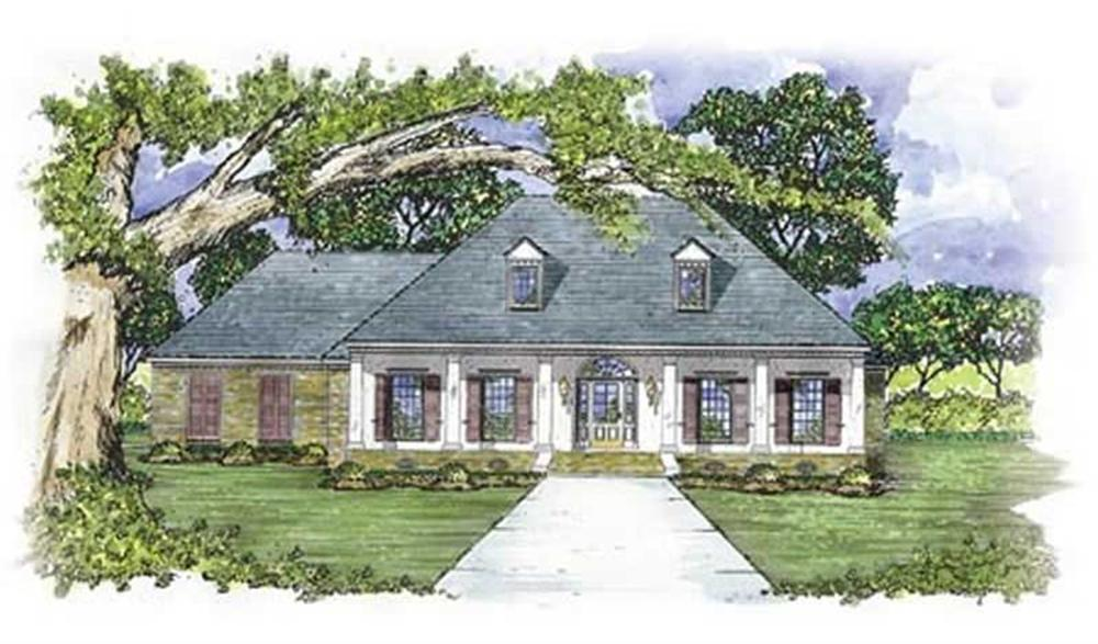 Colonial home (ThePlanCollection: Plan #139-1157)
