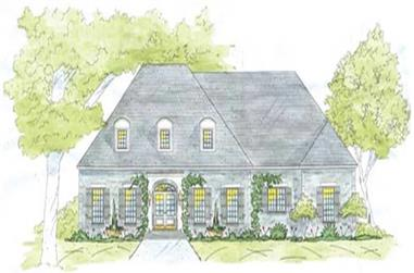 4-Bedroom, 3836 Sq Ft Home Plan - 139-1163 - Main Exterior