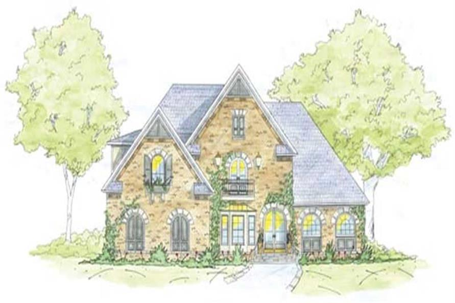 5-Bedroom, 3677 Sq Ft Home Plan - 139-1166 - Main Exterior