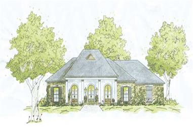 4-Bedroom, 2208 Sq Ft House Plan - 139-1167 - Front Exterior