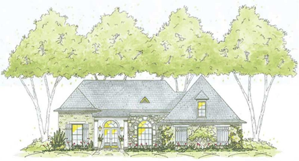 Traditional home (ThePlanCollection: Plan #139-1170)